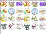 24 x Easter edible wafer paper bun cup cake top toppers